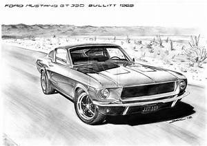 Ford Mustang Drawings, 1968 ford mustang - JohnyWheels