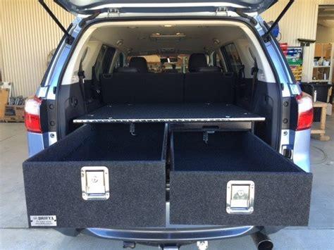 isuzu mux storage drawers package  drifta camping