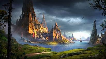 Fantasy 4k Wallpapers Castle River Ship Awesome