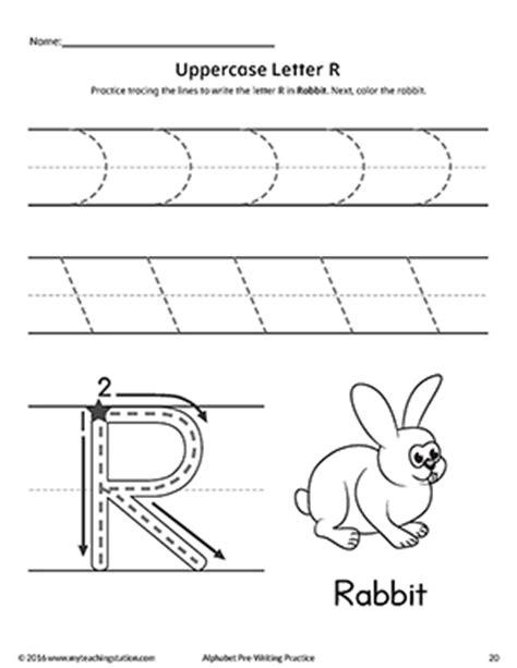 letter r worksheets uppercase letter r pre writing practice worksheet 30447