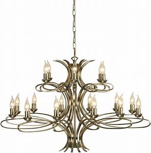 Penn contemporary light large brushed brass chandelier