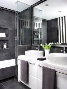 black white bathroom ideas black and grey bathrooms 2017 grasscloth wallpaper