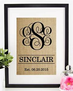 personalized wedding gift for couple rustic by chathamplace With wedding gift for outdoorsy couple