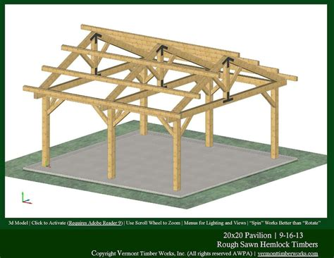 plans perspectives  elevations  timber pavilions