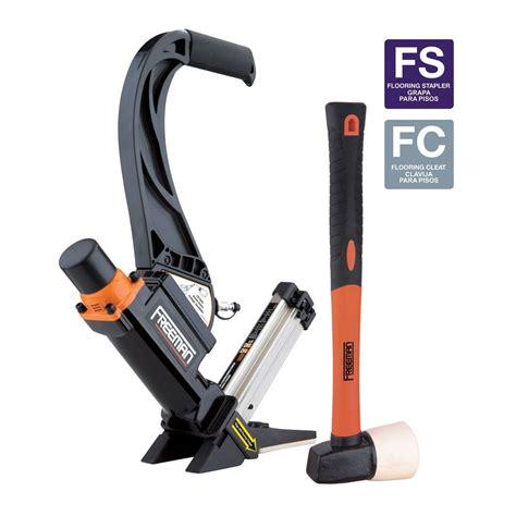 freeman floor nailer freeman 2 in 1 16 gauge lightweight flooring nailer with plastic handle p50lslw the home depot