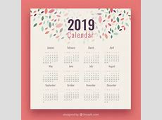 Calendario 2019 con elementos coloridos Descargar
