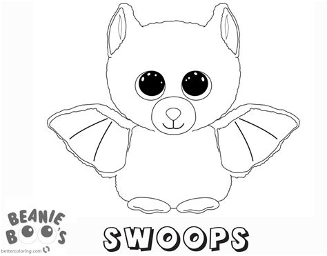 coloring boo beanie boo coloring pages swoops free printable coloring