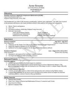 Career Services Resume Template by Sle Resumes Career Services