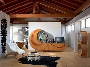 Meuble Salon Bois : meuble salon design un reflet de notre temps ~ Teatrodelosmanantiales.com Idées de Décoration