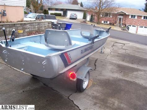 armslist  saletrade clean  alumacraft ft aluminum boat   ez loader trailer