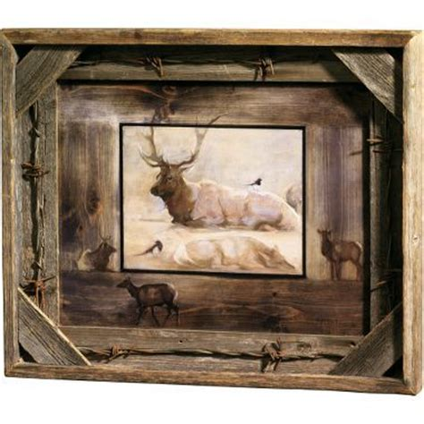 how to make barn wood picture frames artsy barn wood and barbed wire on