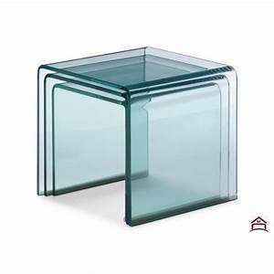 Table Basse Gigogne : table basse gigogne design en verre ~ Zukunftsfamilie.com Idées de Décoration