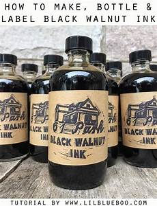 how to make bottle and label diy black walnut ink lil With how to make your own labels for bottles