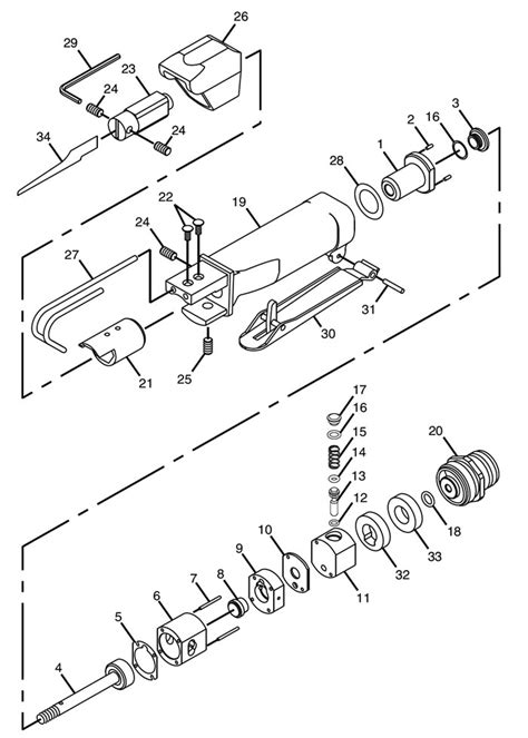 Chicago Pneumatic CP7900 Reciprocating Saw Repair Parts