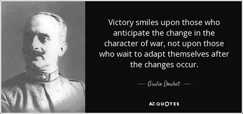 giulio douhet quote victory smiles