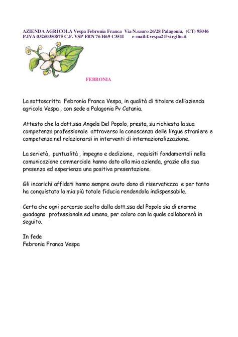 lettera referenze azienda agriturismoarioli