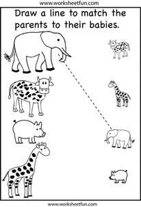Printable Preschool Worksheets Animals