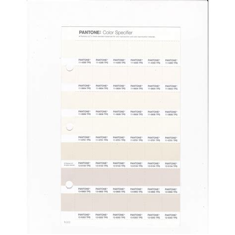 pantone   tpg whisper white replacement page