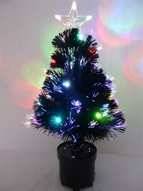 fibre optic black christmas tree 60cm black fibre optic tree with multi coloured led lights trees uk gardens co uk