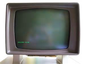 Old Computer Monitor Screen