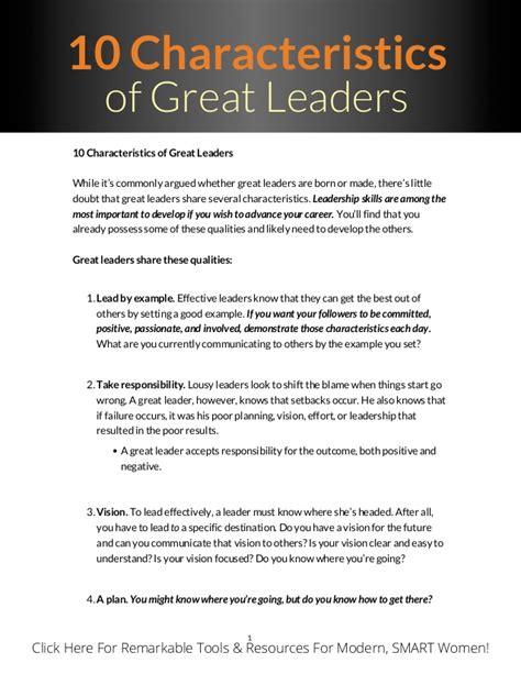 top  qualities   great leader