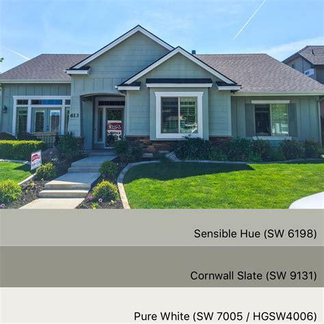 sherwin williams paint colors sensible hue 6198 cornwall slate 9131 white 7055 trendy