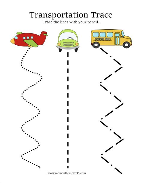 transportation activities for preschoolers on the move 312 | Transportation Trace 2
