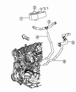 2014 Dodge Journey Hose  Radiator Outlet   Engine Oil