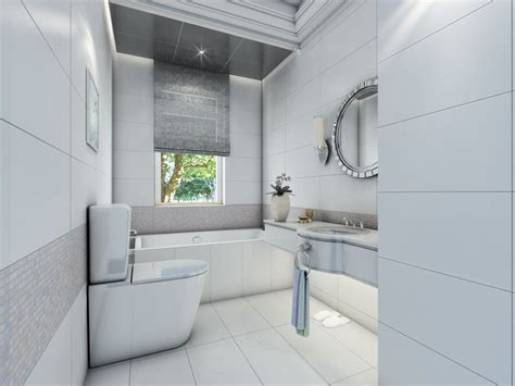 12x24 Bathroom Tile by Contemporary White Bathroom Design With Glazed Ceramic