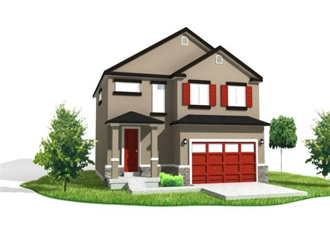 3d Home : 3d Floor Plan And 3d Elevation