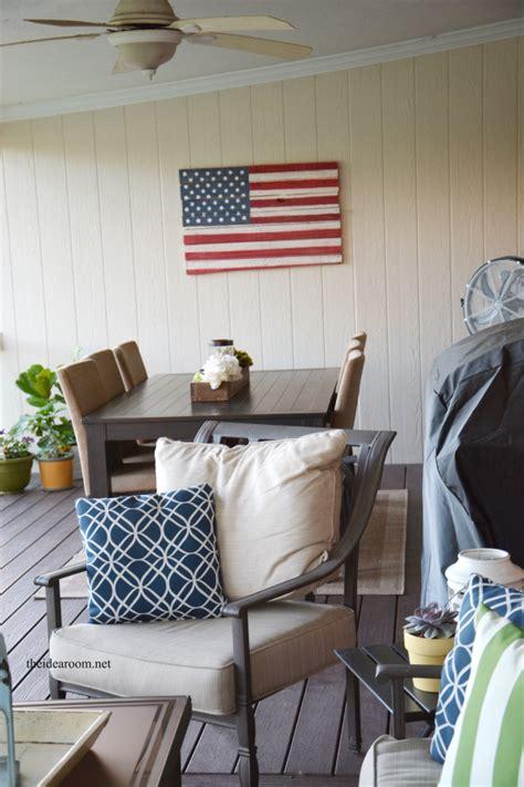 wood pallet american flag  idea room
