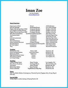 Dance resume for college audition resume ideas for Audition resume template