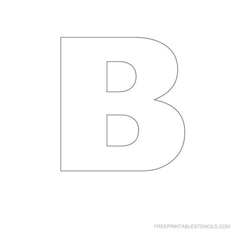 stencils letters  printable big letter printable