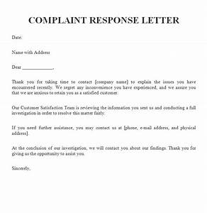 example customer complaint response letters With customer response letter templates