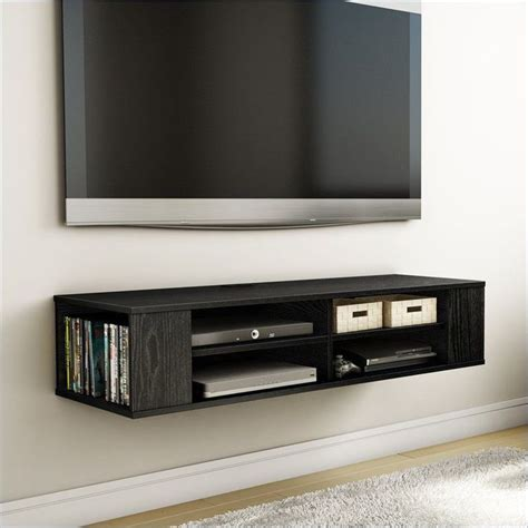 stylish ebay living room furniture wall mounted media console black tv stand entertainment