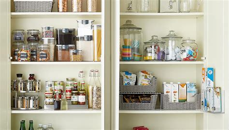 organize  kitchen cabinets  container store