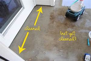 I should be mopping the floor diy miracle concrete patio for How to clean concrete porch floor