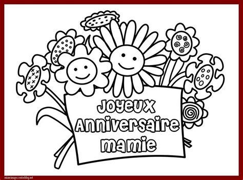 Coloriage Joyeux Anniversaire Mamie
