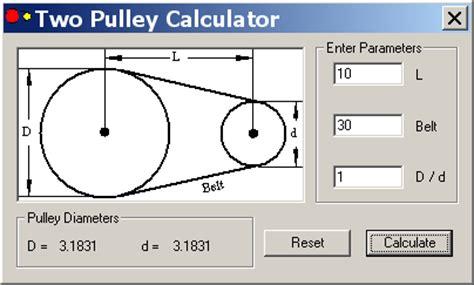 Pulley Ratio Chart - Ofertasvuelo
