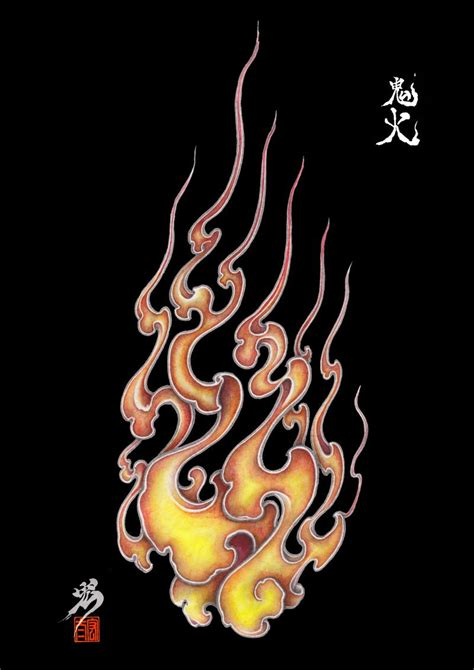 fire pattern  japan  behance tattoo design irezumi