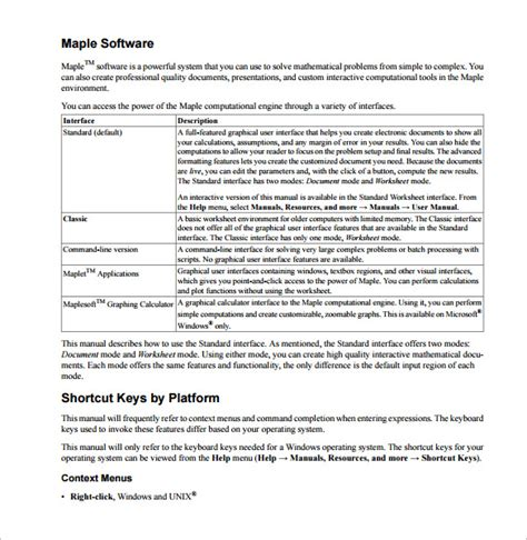 User Manual Template For Software by 13 User Manual Templates Sle Templates