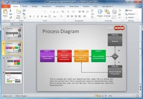 Proces Flow Diagram In Powerpoint by How To Make A Flowchart In Powerpoint