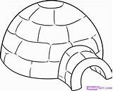 Igloo Drawing Coloriage Draw Imprimer Ours Coloring Hiver Iglu Dragoart Dessins Est Animaux Dessin Pingouin Kindergarten Gabarit Step Snow Drawings sketch template