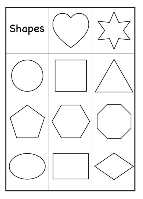 color by shapes worksheets activity shelter