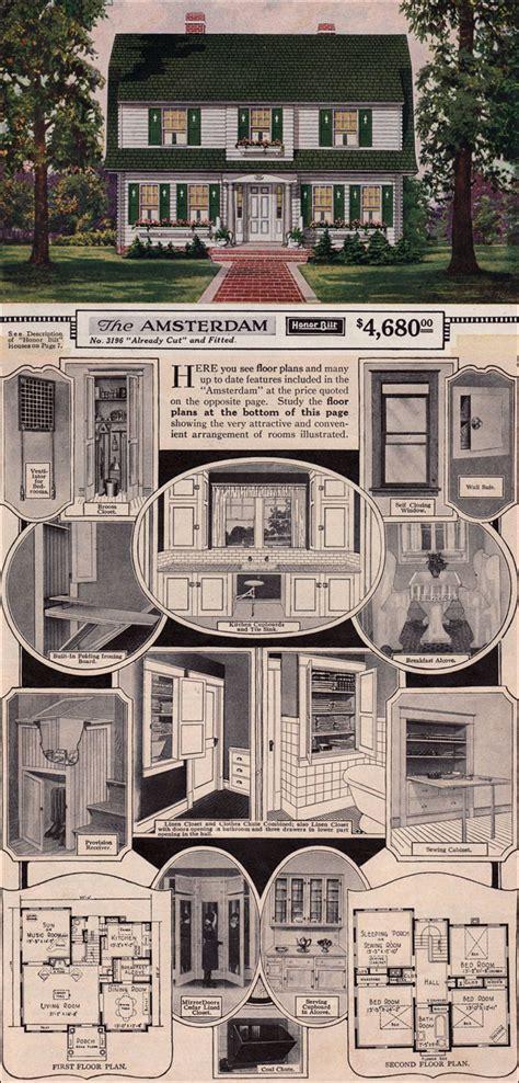 amsterdam  sears modern homes  dutch colonial revival kit house gambrel roof