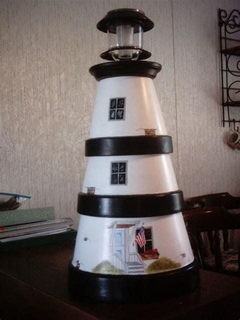 diy clay pot lighthouse  owner builder network