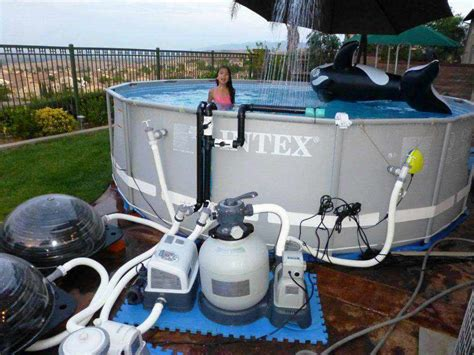 intex pool set spa above ground swimming pools with salt water systems