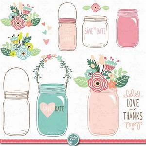 Hand draw mason jar clipart quotwedding mason jarquot clip art for Mason jar clip art for wedding invitations