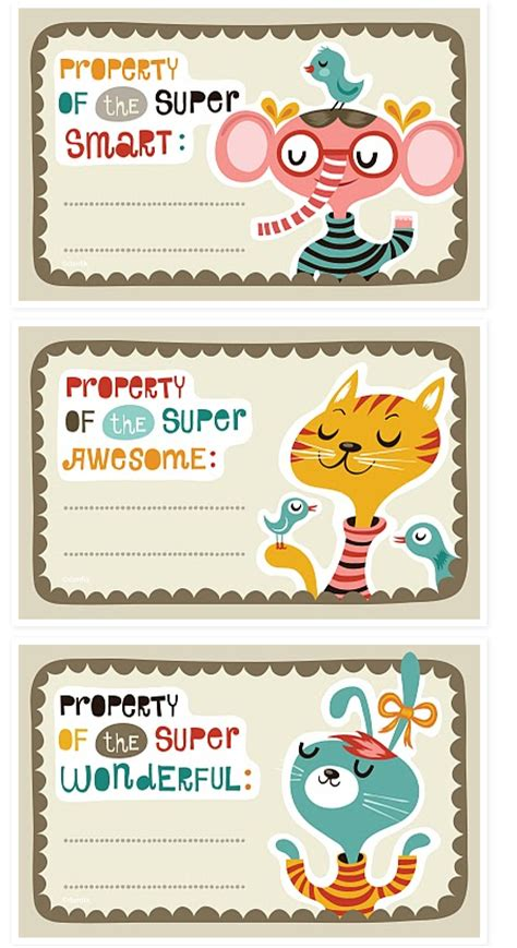 Free Printable Bookplates For The Kids  Starling Agency