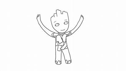 Groot Draw Step Drawing Galaxy Beano Guardians